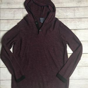 American Eagle red black sweater large xx26